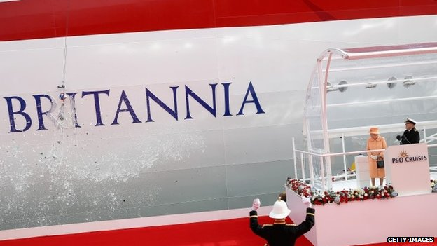 P Amp O S Britannia Officially Named By The Queen