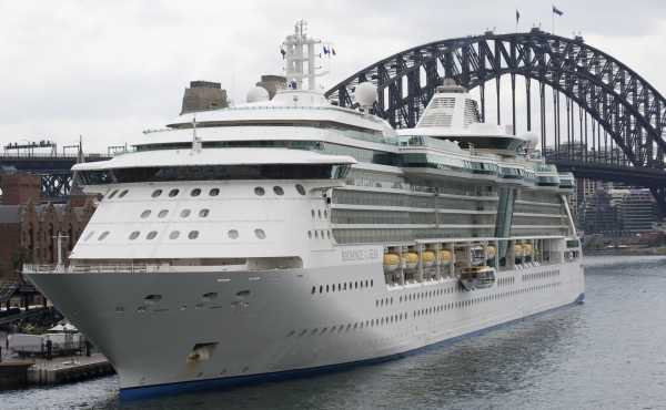 Radiance of the Seas in Sydney Harbour